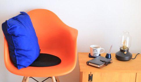 長く楽に座る事ができる椅子