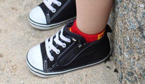 ハイカットの靴