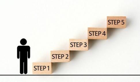目的までのステップ