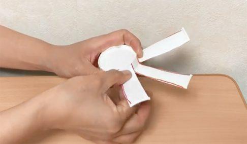 切った紙コップ