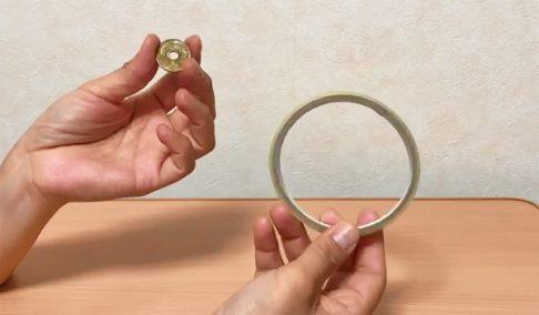 五円玉とセロハンテープ