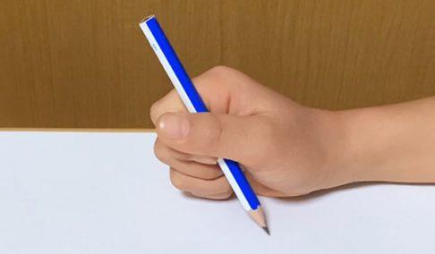鉛筆が立っている